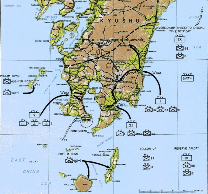 Operation Olympic - planned US invasion of southern Japan